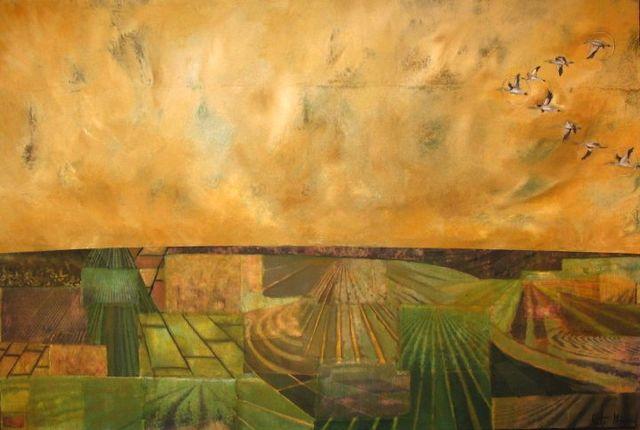 Fields, Flock and Optimum spacing